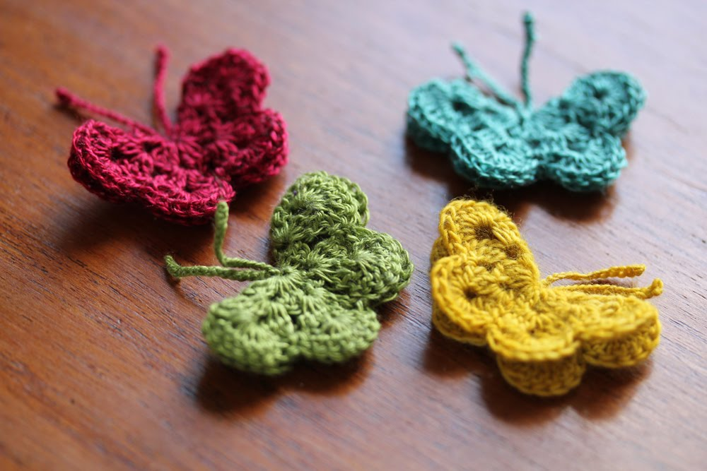 crochet butterfly pattern [free pattern] 11 sweet and simple lilu0027 butterflies patterns - knit and axkwjma